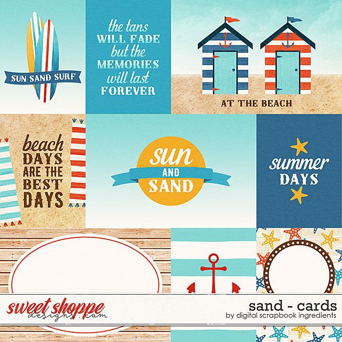 Sand | Cards by Digital Scrapbook Ingredients
