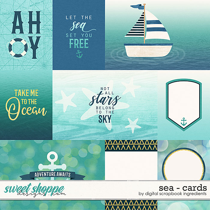 Sea | Cards by Digital Scrapbook Ingredients