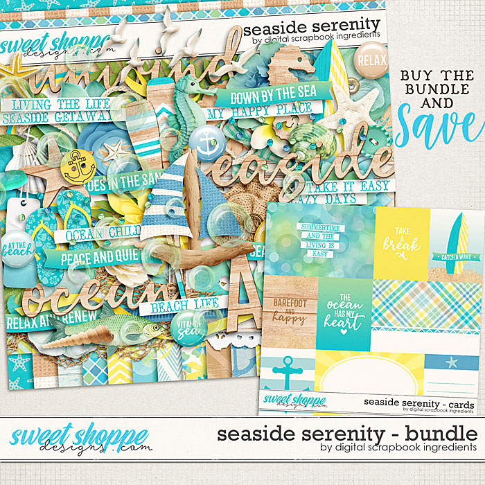 Seaside Serenity Bundle by Digital Scrapbook Ingredients