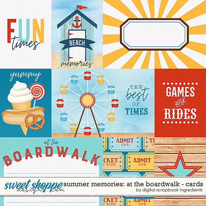 Summer Memories: At The Boardwalk | Cards by Digital Scrapbook Ingredients