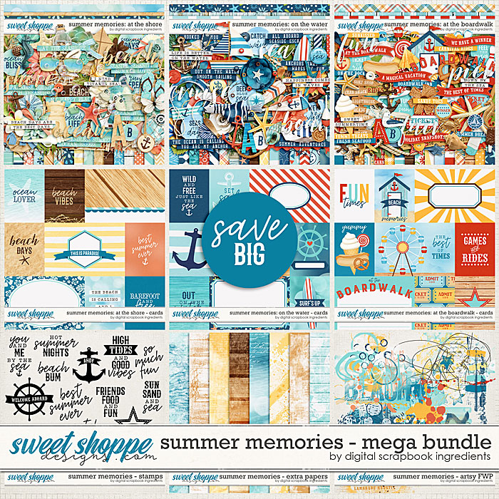 Summer Memories Mega Bundle & *FWP* by Digital Scrapbook Ingredients