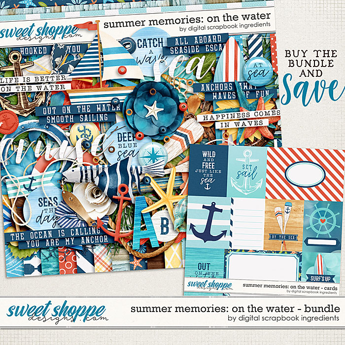 Summer Memories: On The Water Bundle by Digital Scrapbook Ingredients