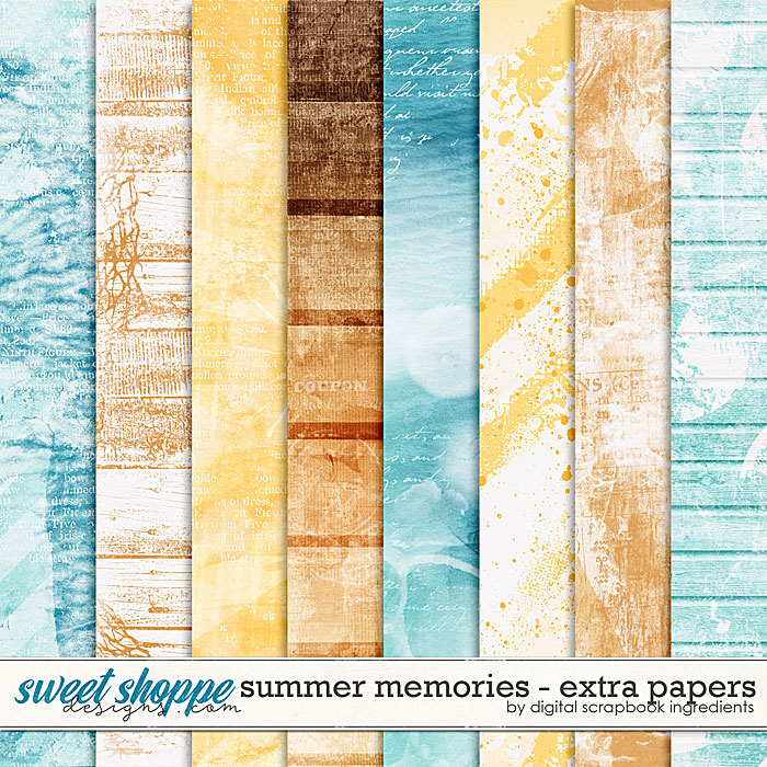 Summer Memories | Extra Papers by Digital Scrapbook Ingredients