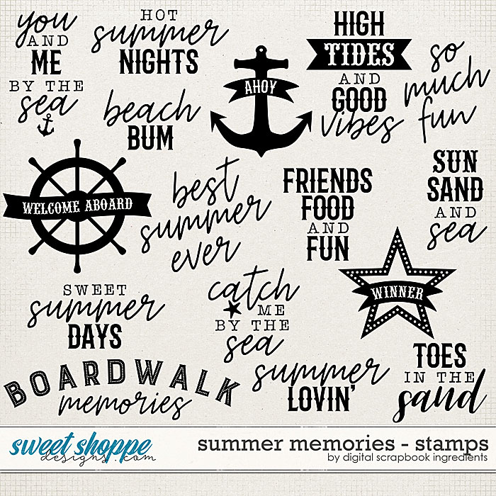 Summer Memories | Stamps by Digital Scrapbook Ingredients