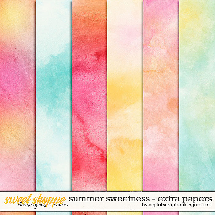 Summer Sweetness | Extra Papers by Digital Scrapbook Ingredients
