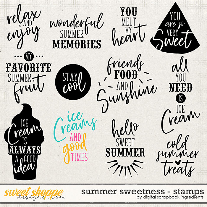 Summer Sweetness | Stamps by Digital Scrapbook Ingredients