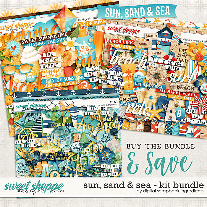 Sun, Sand & Sea Kit Bundle by Digital Scrapbook Ingredients