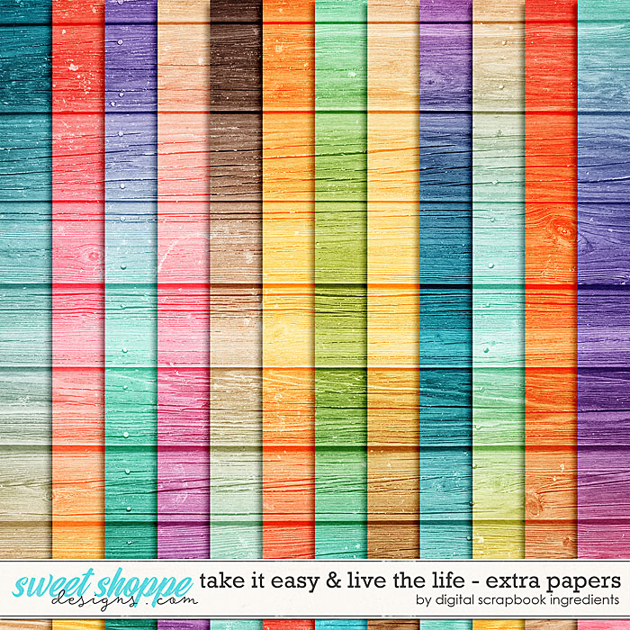 Take It Easy & Live The Life | Extra Papers by Digital Scrapbook Ingredients