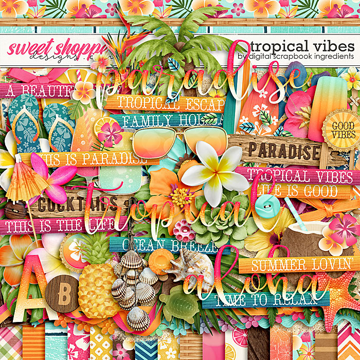 Tropical Vibes by Digital Scrapbook Ingredients