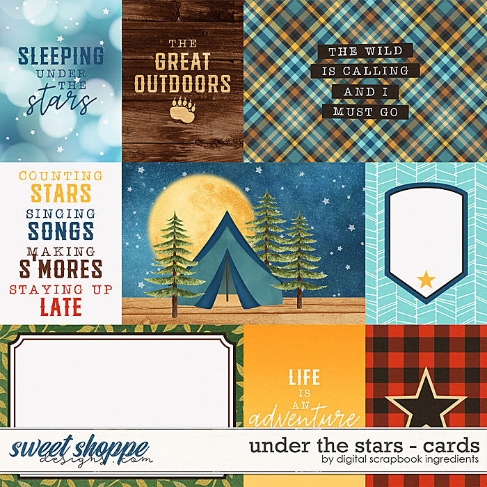 Under The Stars | Cards by Digital Scrapbook Ingredients