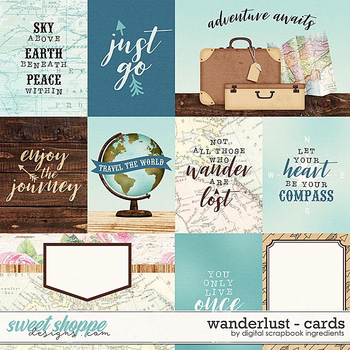 Wanderlust | Cards by Digital Scrapbook Ingredients