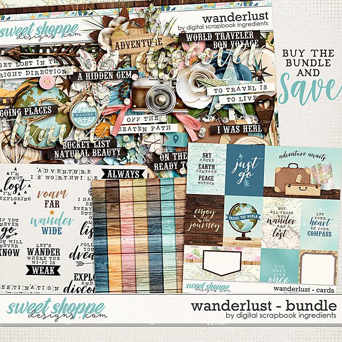 Wanderlust Bundle by Digital Scrapbook Ingredients