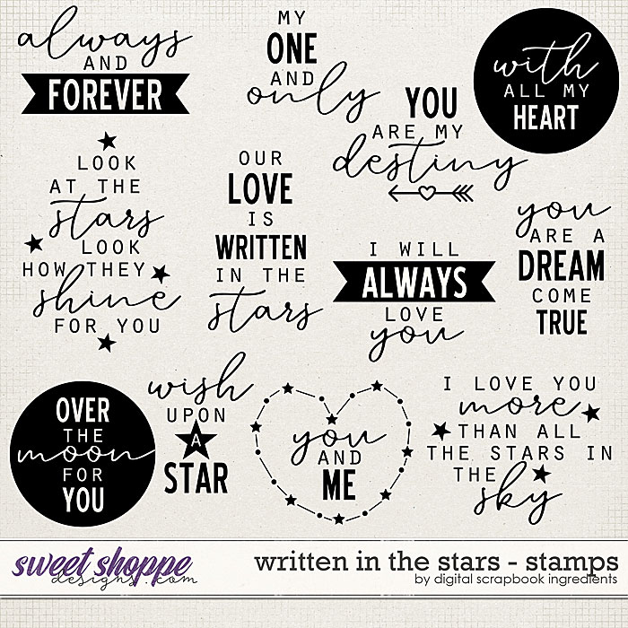 Written In The Stars | Stamps by Digital Scrapbook Ingredients