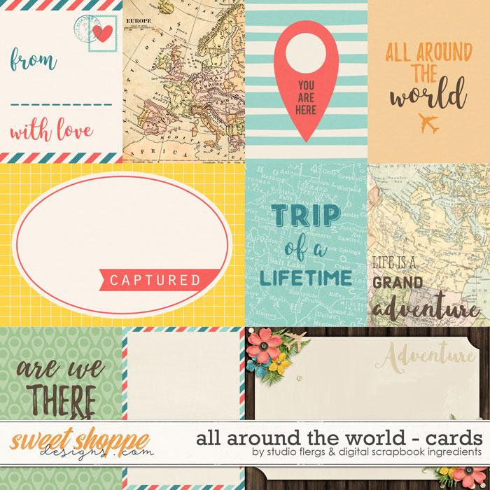 All Around the World: CARDS by Studio Flergs & Digital Scrapbook Ingredients