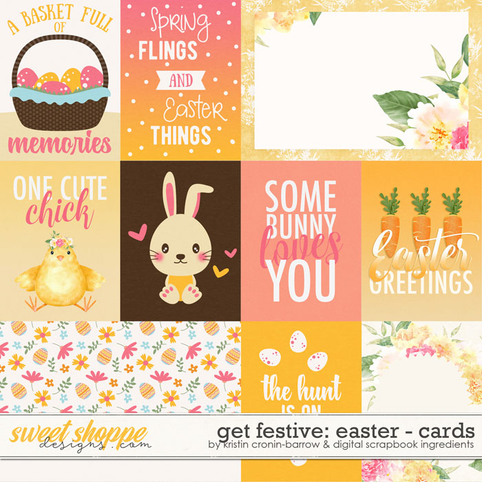 Get Festive: Easter Cards by Kristin Cronin-Barrow & Digital Scrapbook Ingredients