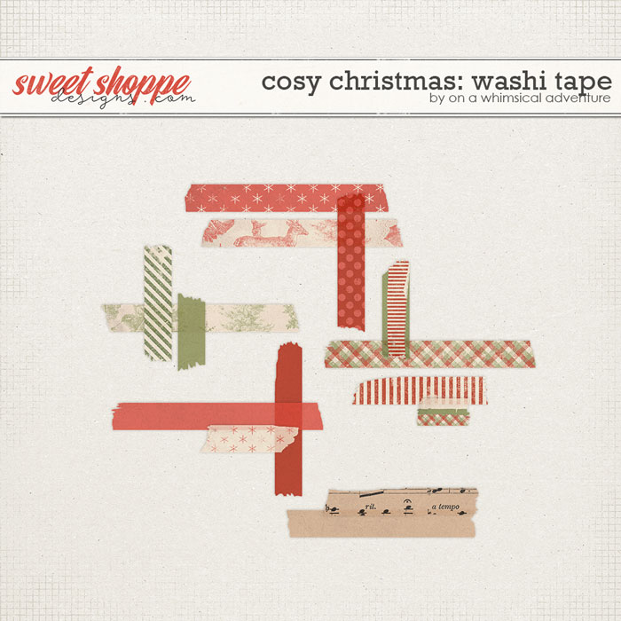 Cosy Christmas Washi Tape by On A Whimsical Adventure