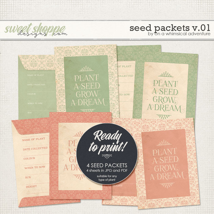 Seed Packets Vol01 Grow A Dream by On A Whimsical Adventure