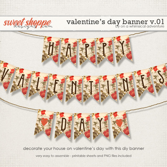 The Valentine's Day Banner by On A Whimsical Adventure