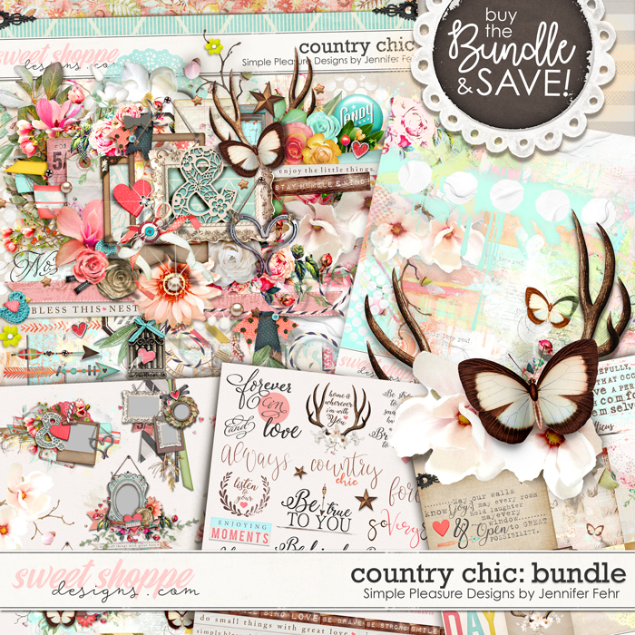 Country Chic BUNDLE: Simple Pleasure Designs by Jennifer Fehr