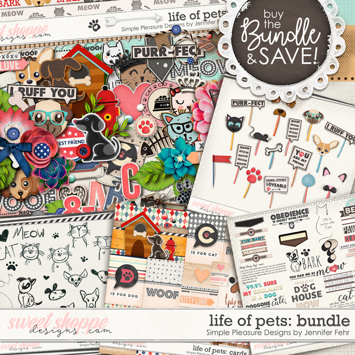Life Of Pets Bundle:  Simple Pleasure Designs by Jennifer Fehr