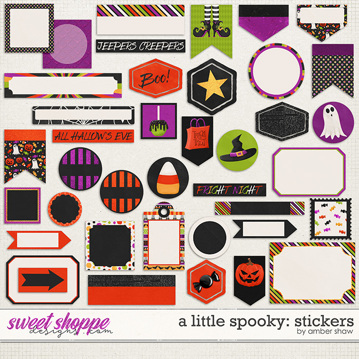 A Little Spooky: Stickers by Amber Shaw