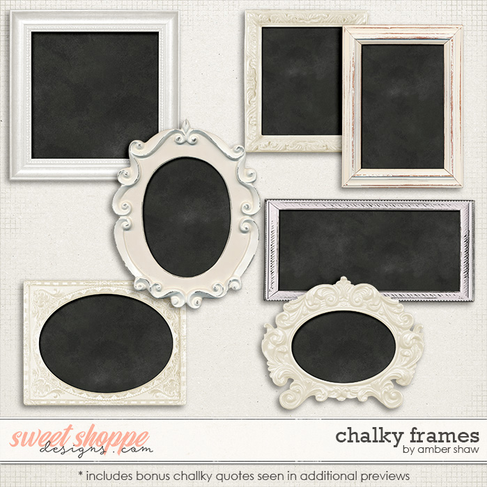 Chalked Frames by Amber Shaw