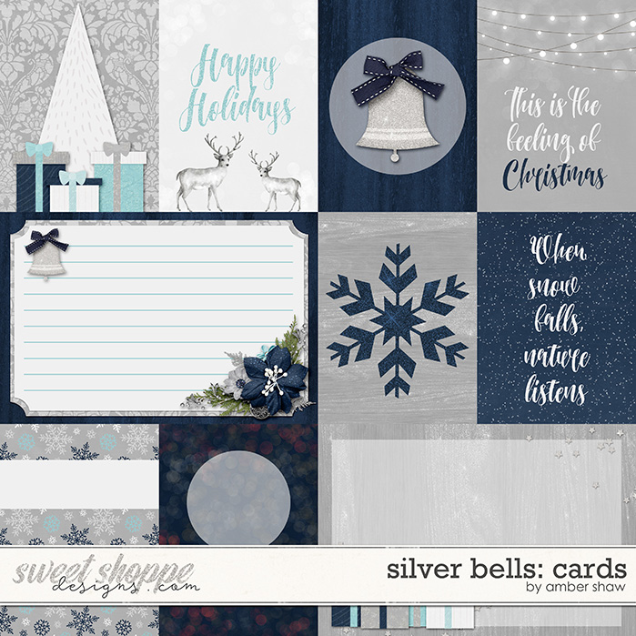 Silver Bells Cards by Amber Shaw