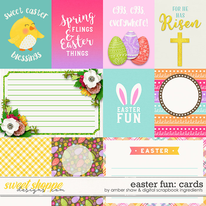 Easter Fun | Cards by Amber Shaw & Digital Scrapbook Ingredients