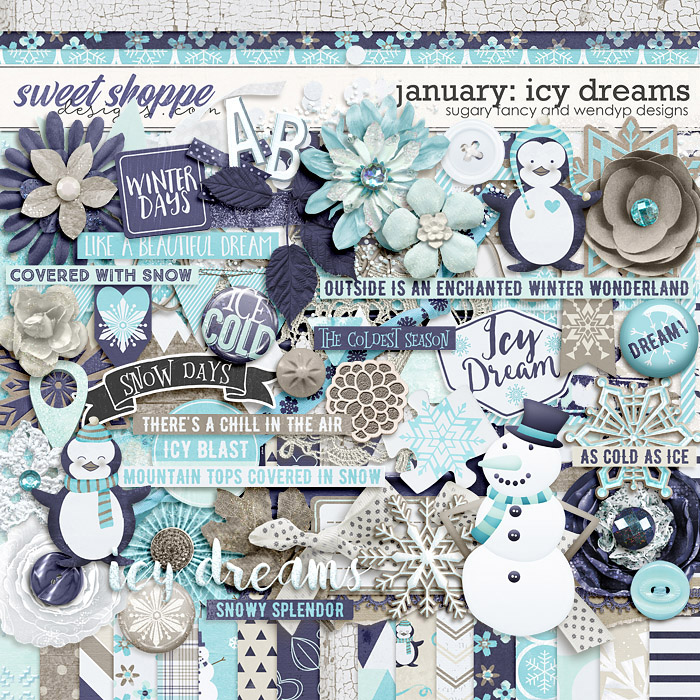 January: Icy Dreams Kit by Sugary Fancy & WendyP Designs