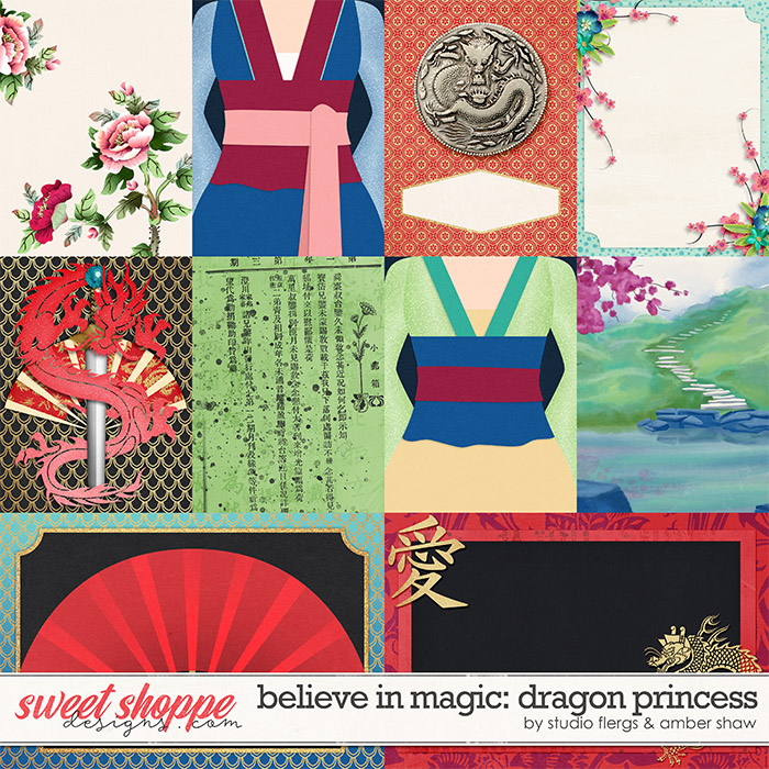 Believe in Magic: Dragon Princess Cards by Amber Shaw & Studio Flergs