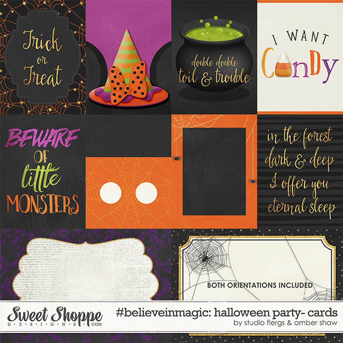 #believeinmagic: Halloween Party Cards by Amber Shaw & Studio Flergs