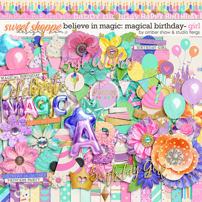 Believe in Magic Magical Birthday - Girl  by Amber Shaw & Studio Flergs