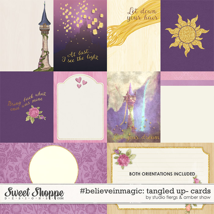 #believeinmagic: Tangled Up Cards by Amber Shaw & Studio Flergs
