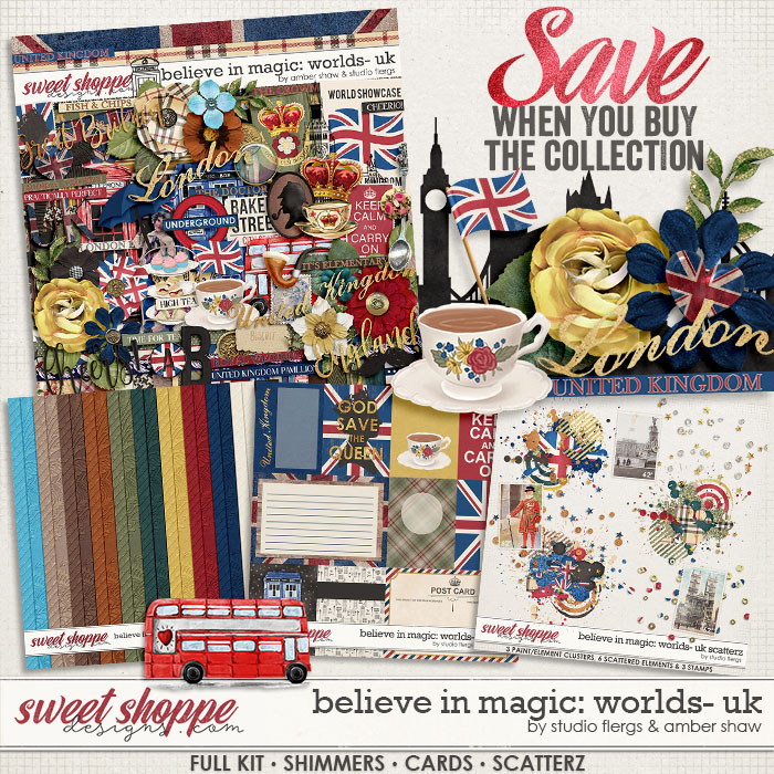 Believe in Magic: Worlds United Kingdom Collection by Amber Shaw & Studio Flergs