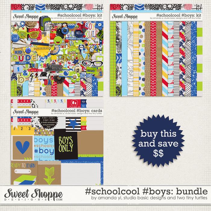#Schoolcool #Boys Bundle by Amanda Yi, Studio Basic Designs & Two Tiny Turtles