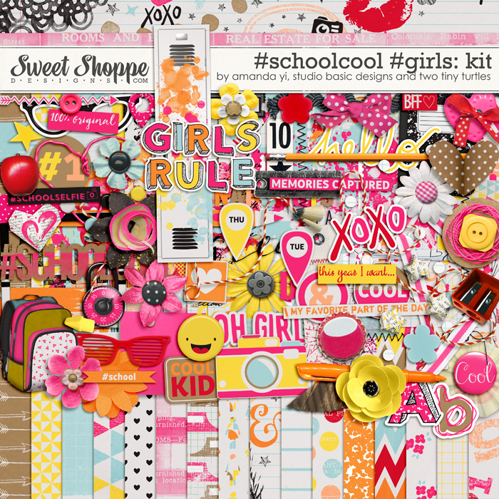 #Schoolcool #Girls Kit by Amanda Yi, Studio Basic Designs & Two Tiny Turtles