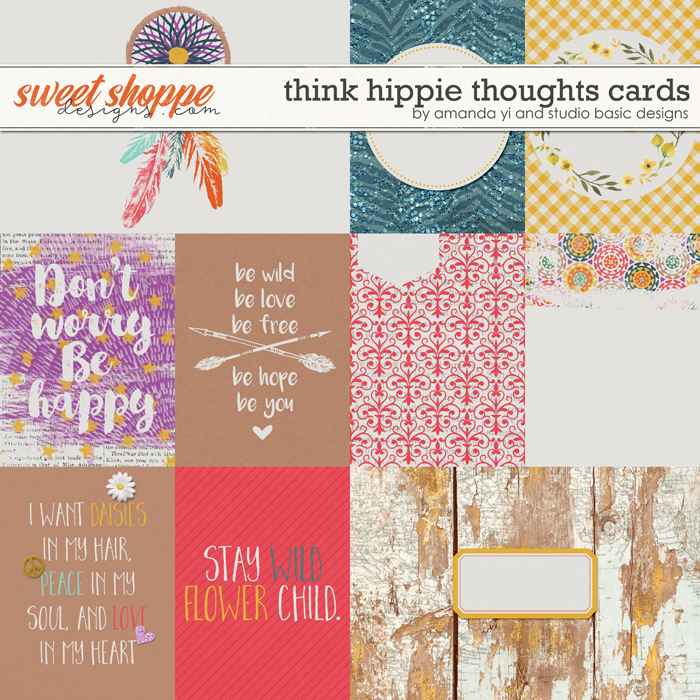 Think Hippie Thoughts : Cards by Amanda Yi & Studio Basic Designs
