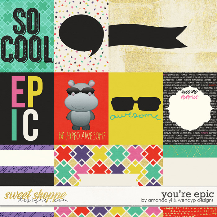 You're Epic - cards by Amanda Yi and WendyP Designs