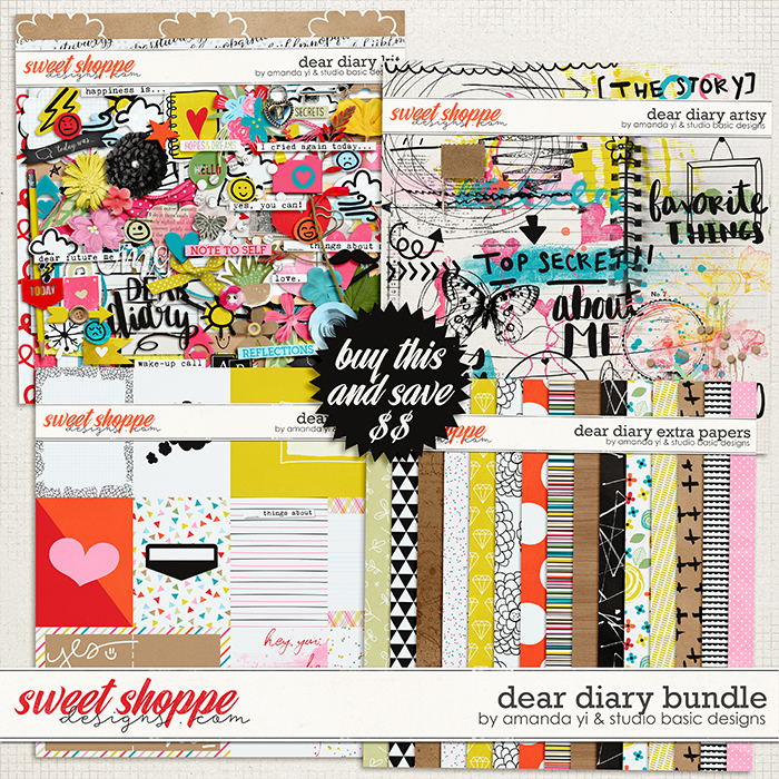 Dear Diary Bundle by Amanda Yi and Studio Basic