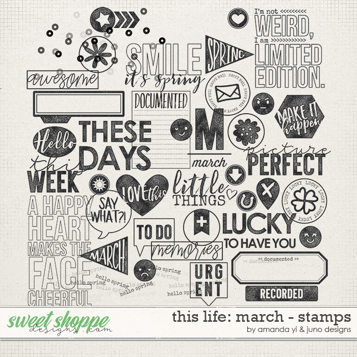 This Life: March - Stamps by Amanda Yi & Juno Designs