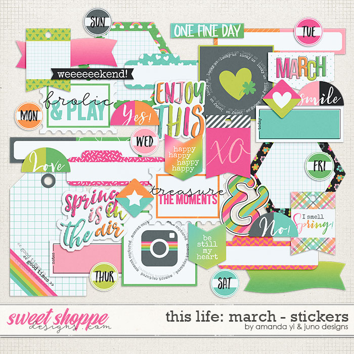 This Life: March - Stickers by Amanda Yi & Juno Designs