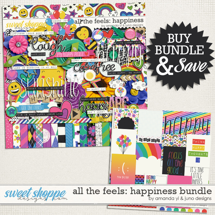 All the feels: Happiness Bundle by Amanda Yi & Juno Designs