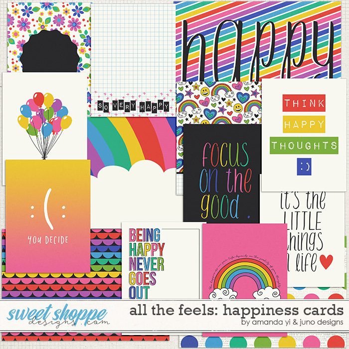 All the feels: Happiness Cards by Amanda Yi & Juno Designs