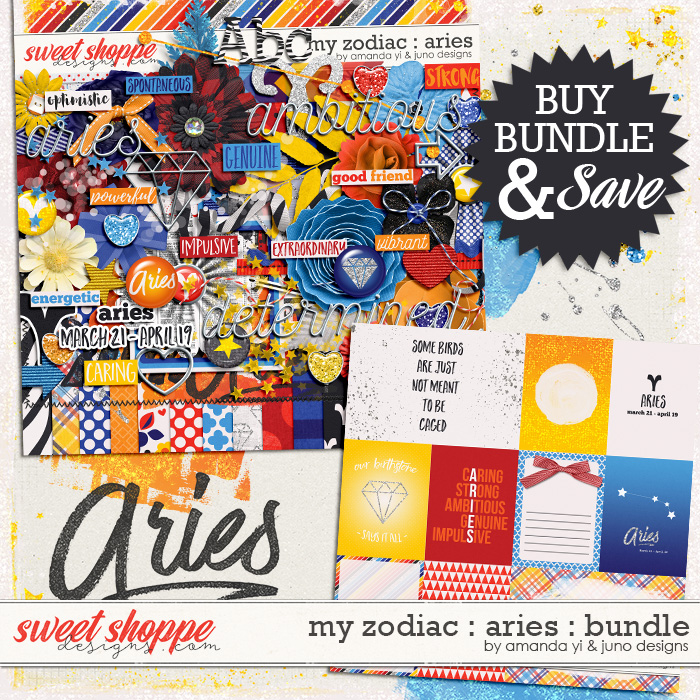 My Zodiac - Aries : Bundle by Amanda Yi & Juno Designs