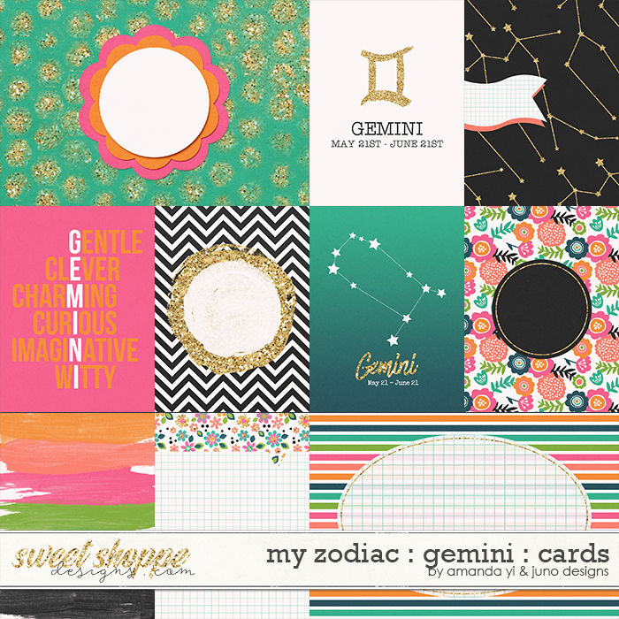 My Zodiac - Gemini : Cards by Amanda Yi & Juno Designs
