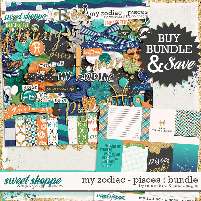 My Zodiac - Pisces : Bundle by Amanda Yi & Juno Designs