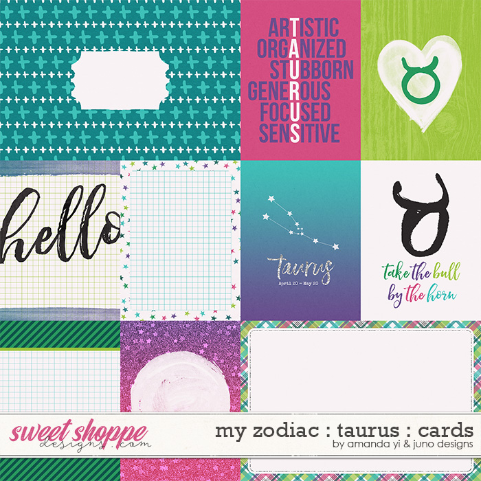 My Zodiac - Taurus: Cards by Amanda Yi & Juno Designs
