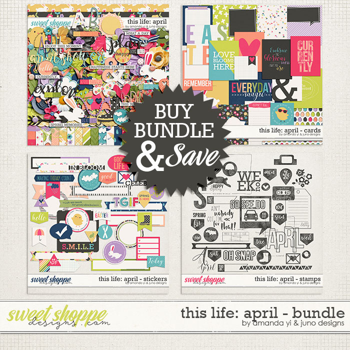This Life: April - Bundle by Amanda Yi & Juno Designs
