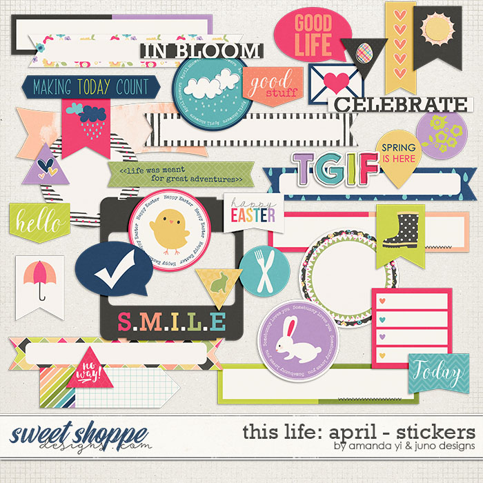 This Life: April - Stickers by Amanda Yi & Juno Designs