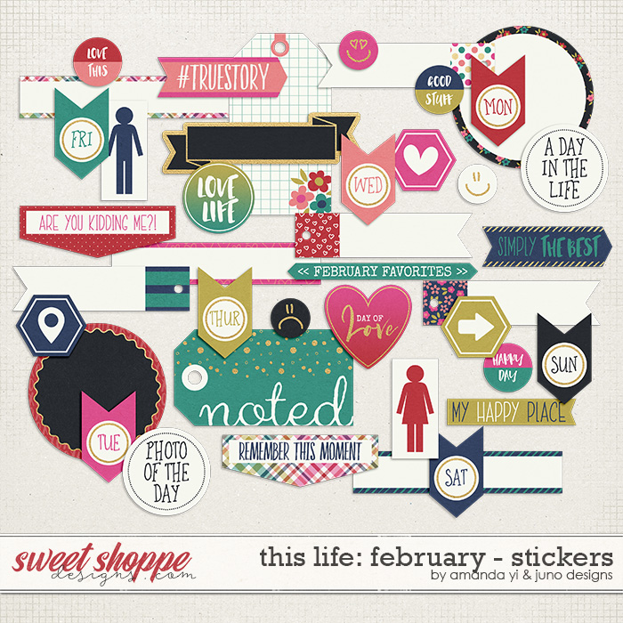 This Life: February - Stickers by Amanda Yi & Juno Designs